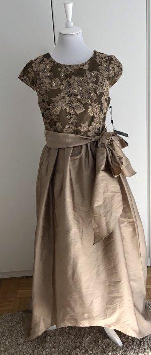 *NEU*Edles goldenes langes Kleid von Designer Adrianna Papell