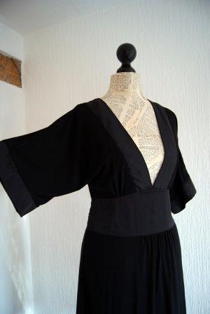 H&M A Line Dress black cotton