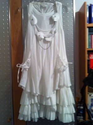 Halter Dress white cotton
