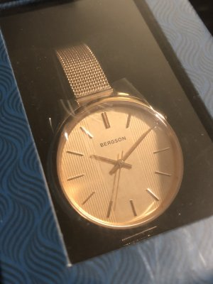 Bergson Watch With Metal Strap rose-gold-coloured