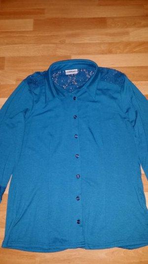 NEU elegante Bluse/Oberteil in petrol mit Spitze/ Gr. 40 von Canda