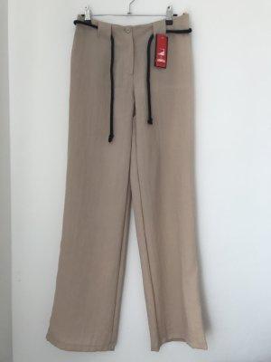 Anita Pantalone beige-color cammello Viscosa