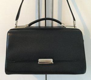 NEU! Elegante schwarze Kosmetiktasche, Echtleder, Mandarina Duck Modell Hera
