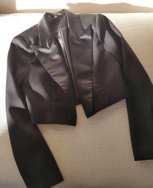 NEU   eleganter, kurzer Cocktailblazer/Kurz-Smoking in Schwarz   für ein stylisches Outfit
