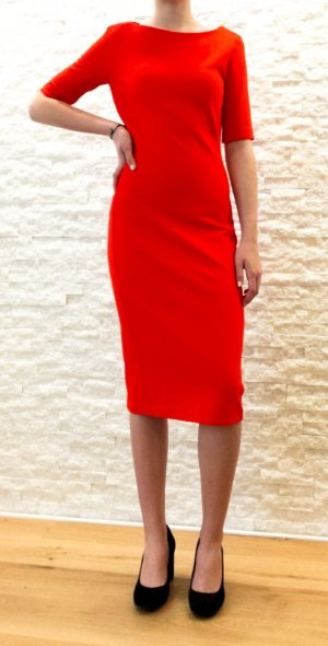 Zara Woman Tube Dress red mixture fibre