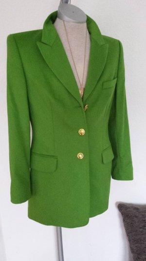 Neu Escada (Couture )Blazer Jacke Wiesengrün Angora Seide Schurwolle gr 36 S