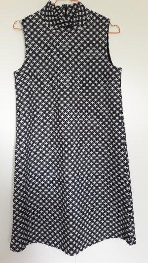 NEU Esprit ausgestelltes ärmelloses Kleid 60ies Look schwarz weiß Stehkragen Gr. S