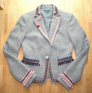 NEU Esprit Blazer aus Wolle Tweed grau Gr. S