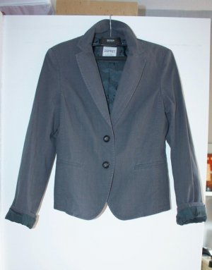 Esprit Boyfriend Blazer anthracite-grey cotton