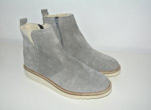 Neu - Esprit Chelsea Boots warm gefüttert Wildleder grau -