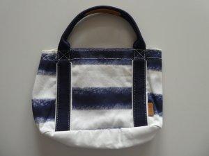 NEU – Esprit – kleine Tragetasche, gestreift in blau und weiß