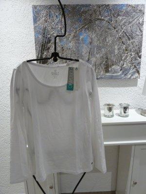 Neu! Esprit Langarmshirt Bio-Baumwolle weiß