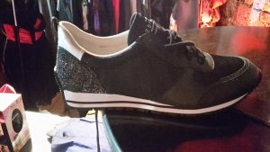 *NEU* ESPRIT Lived in and loved Glitzer Schuhe/ Sneaker schwarz