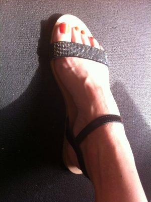 NEU Esprit Sandalette mit Strass schwarz 40/41
