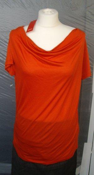 *NEU* Esprit: Shirtbluse / Oberteil / Top, rot-orange (M)