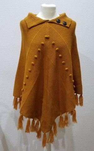 Esprit Knitted Poncho gold orange