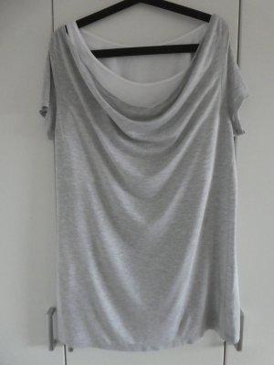 NEU – Esprit – T-Shirt, hellgrau mit weißem Innentop
