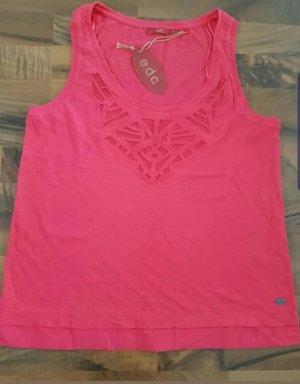 Esprit Geribd shirt roze