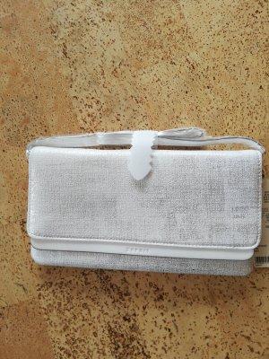 Edc Esprit Borsa clutch bianco-argento