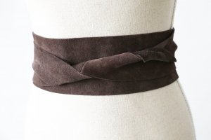Leather Belt brown suede