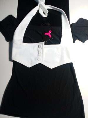 Carmen Shirt white-black