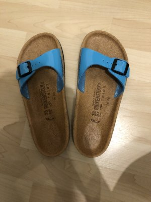 Birkenstock High-Heeled Sandals turquoise