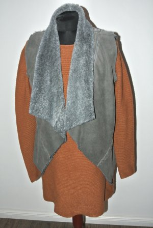 Fur vest grey-dark grey