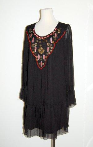 Neu - Feminine Tunika - Chiffonkleid schwarz von Gina Benotti - Gr. L