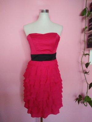 NEU, Festliches Bandeaukleid in pink/magenta für Silvester (K2)