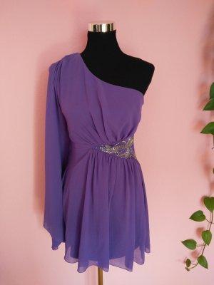 NEU, Festliches One-Sholder-Kleid in dunkelviolett (K1)