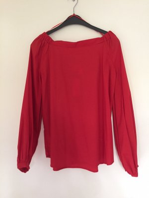 Mrs & HUGS Carmen Blouse red cotton
