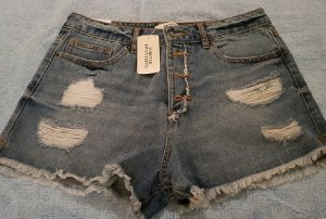 Forever 21 Denim Shorts azure-steel blue