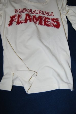 NEU: Fornarina Shirt, Gr. S, Print, langarm, Farbe: creme