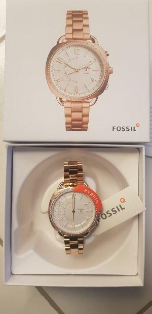 NEU Fossil Smartwatch Hybrid Q Accomplice Damen Rosegold Edelstahl