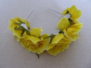 NEU | für moderne Hippies - schöner Blütenhaar-Reif mit gelben Blumen