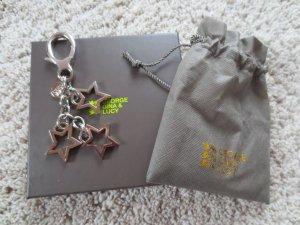 NEU George/Gina/Lucy Taschen-Schlüssel-Anhänger, 3 Sterne