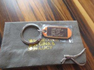 George Gina & Lucy Porte-clés kaki-orange clair