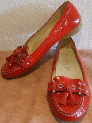 * !NEU! GEOX RESPIRA Mokassin, Slipper aus stylischen rotem Lackleder Gr.37,5 *