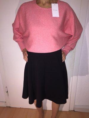 Vila Kraagloze sweater zalm-lichtrood
