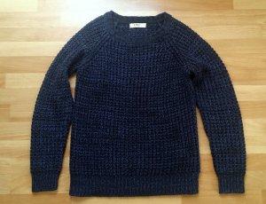 NEU gestrickter Pullover in schwarz-blau/ Gr. S/ Clockhouse
