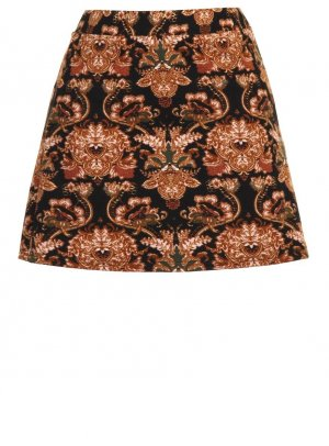 Neu! Glamorous 70ies Barock Folklore Rock Skirt Blogger Trend Must-Have