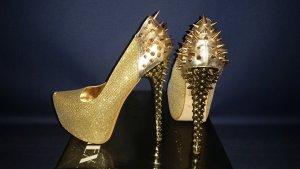 !! NEU !! goldene Schuhe