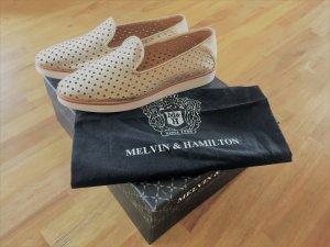 NEU goldene Slipper von Melvin&Hamilton aus geschmeidigem Leder