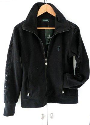 NEU: Golf Golfino Fleece Jacke schwarz mit Pailetten Größe 36 S NP 180 Euro