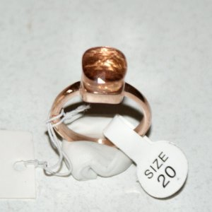 Statement Ring rose-gold-coloured-camel