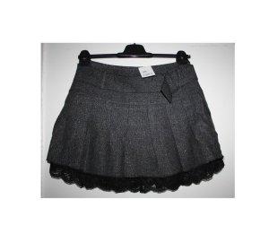 John Grey Jupe en tweed noir-gris clair tissu mixte