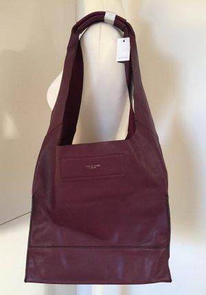 Rag & bone Shoulder Bag bordeaux-purple leather