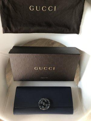 *NEU* Gucci Borsa Broadway Clutch mit Swarovski Kristallen verziertes GG Logo