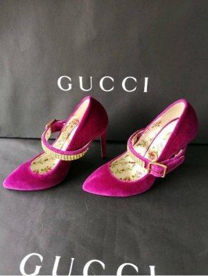 Neu Gucci Pumps in Gr. 36,5 violet UVP 890 Euro neu
