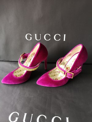Gucci Spitse pumps violet